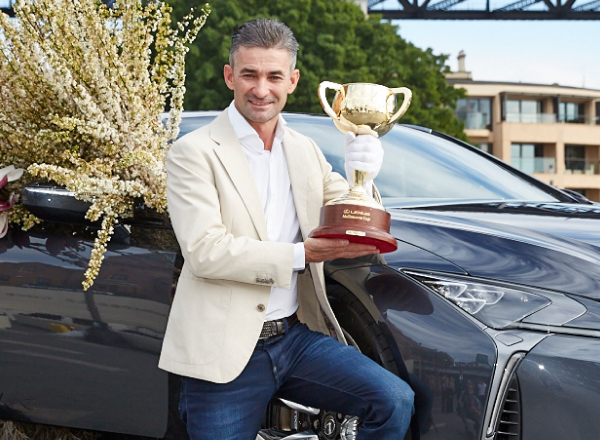 Corey Brown with the Lexus Melbourne Cup