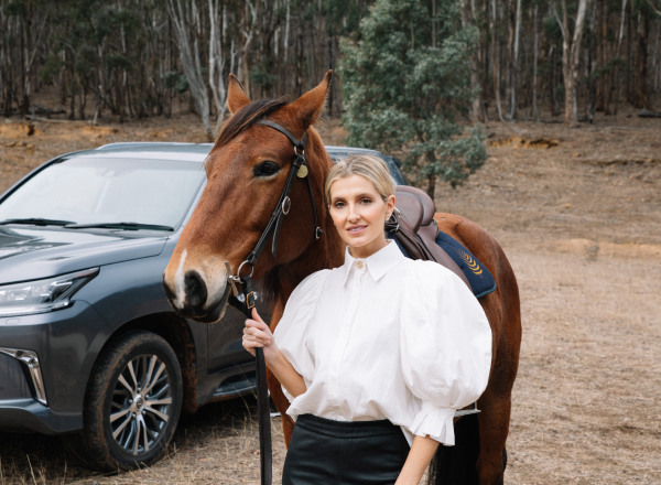Kate Waterhouse with horse